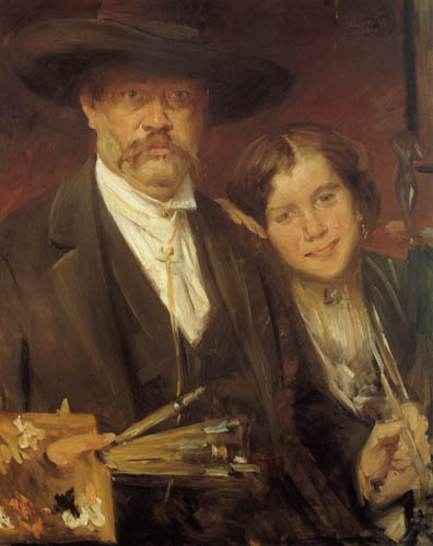 Lovis Corinth - Selfportrait with a model