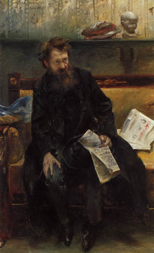 Lovis Corinth - The Poet Peter Hille