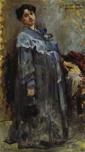 Lovis Corinth - In a silk coat