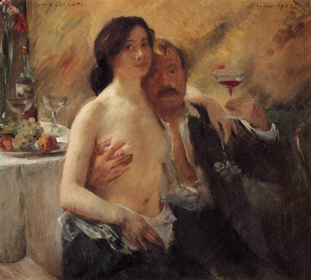 Lovis Corinth - Selfportrait and Charlotte Berend