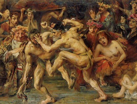 Lovis Corinth - Ulysses in the fight with the beggar