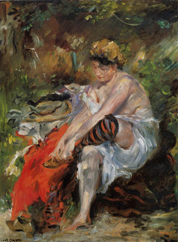 Lovis Corinth - After the bath