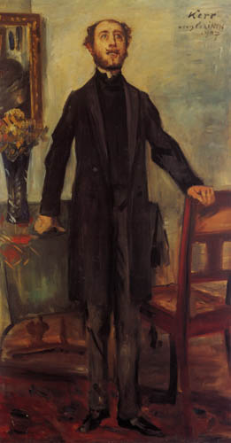 Lovis Corinth - Portrait of Alfred Kerr