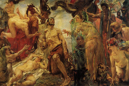 Lovis Corinth - The temptation of the St  Anthony