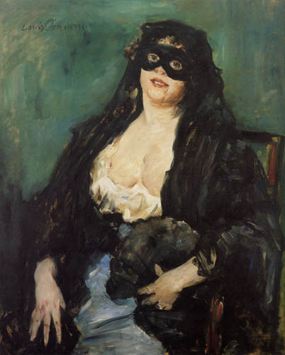 Lovis Corinth - The black mask
