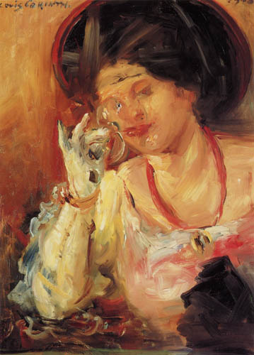 Lovis Corinth - Lady with wine glass
