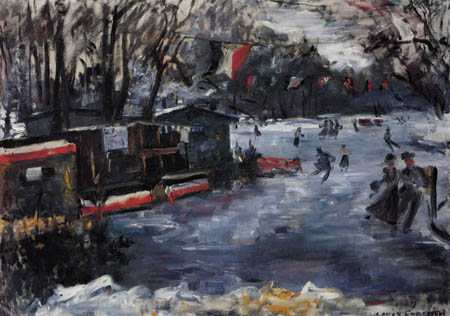 Lovis Corinth - Skating rink in the Berlin zoological garden