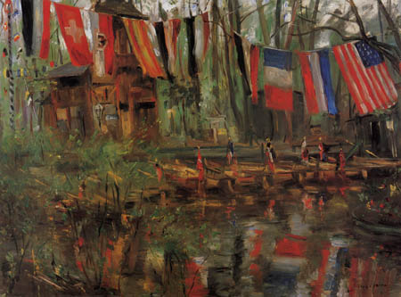 Lovis Corinth - The new lake in the zoo of Berlin