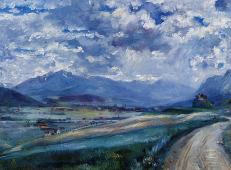 Lovis Corinth - Inntal Landschaft
