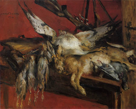 Lovis Corinth - Hunt still life