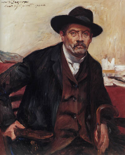 Lovis Corinth - Selfportrait with a black hat