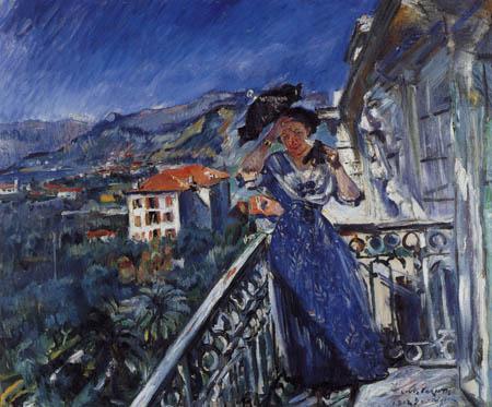 Lovis Corinth - On the balcony in Bordighera