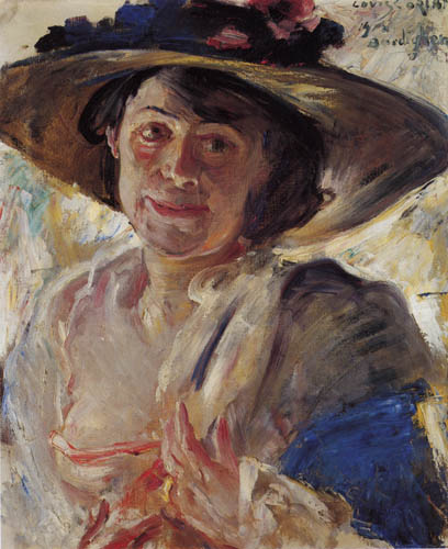 Lovis Corinth - Woman with a rose hat