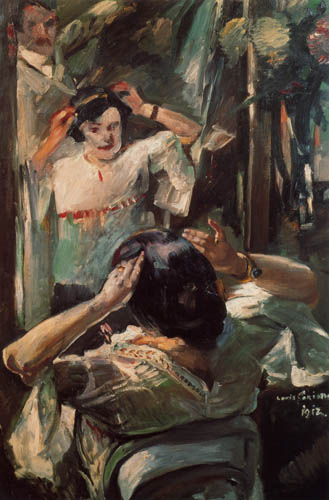 Lovis Corinth - Before the mirror