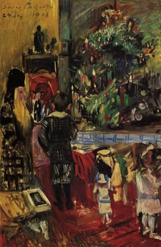 Lovis Corinth - Distribution of Christmas presents