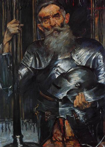 Lovis Corinth - A old man as a knight