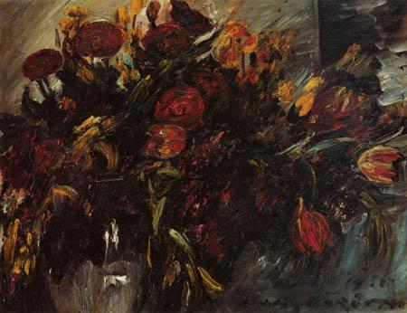 Lovis Corinth - Rote und gelbe Tulpen