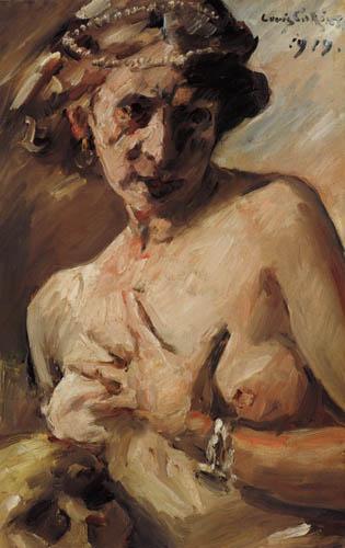 Lovis Corinth - Magdalena mit Perlenkranz