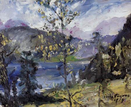 Lovis Corinth - Oktoberschnee am Walchensee