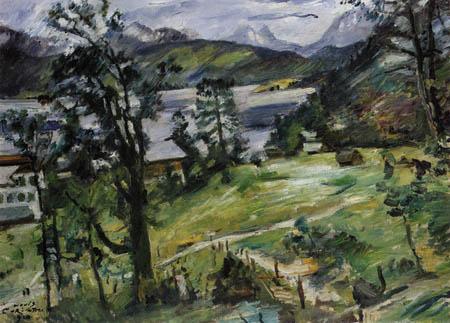 Lovis Corinth - Walchensee mit Lärche