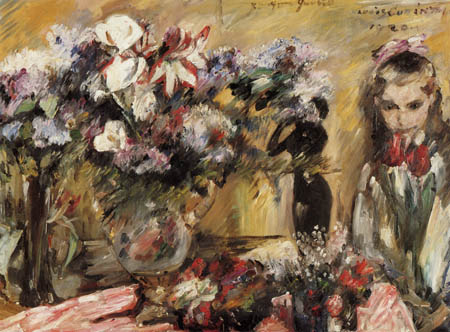 Lovis Corinth - Flowers and the daughter Wilhelmine