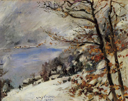 Lovis Corinth - The Walchensee in the winter