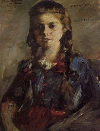 Lovis Corinth - Wilhelmine mit Zöpfen