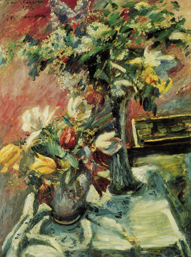 Lovis Corinth - Lilac and tulips