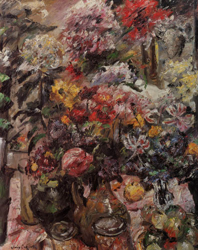 Lovis Corinth - Chrysanthemums and Amaryllis