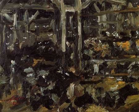 Lovis Corinth - A cowshed