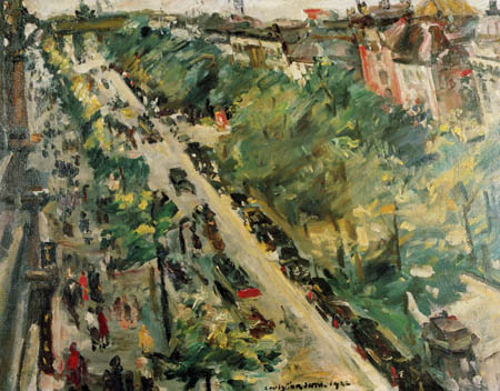 Lovis Corinth - Avenue in Berlin