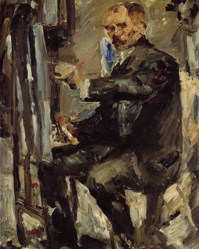 Lovis Corinth - Selfportrait with easel