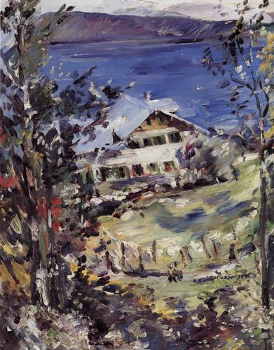 Lovis Corinth - Landhaus mit Wäscheplatz