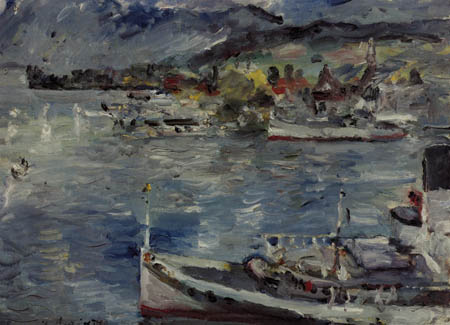 Lovis Corinth - Lake Lucerne in the morning