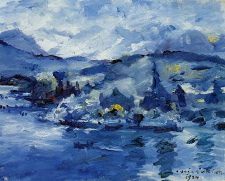 Lovis Corinth - Lake Lucerne in the afternoon