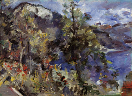 Lovis Corinth - Alpine landscape