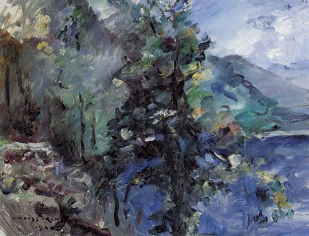Lovis Corinth - Walchensee mit Abhang des Jochberges