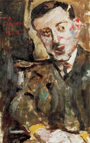 Lovis Corinth - Dr. Arthur Rosin in the chair