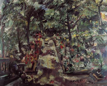 Lovis Corinth - Garden in Berlin-Westend