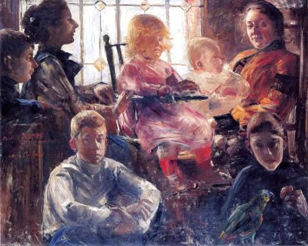 Lovis Corinth - Family Rumpf