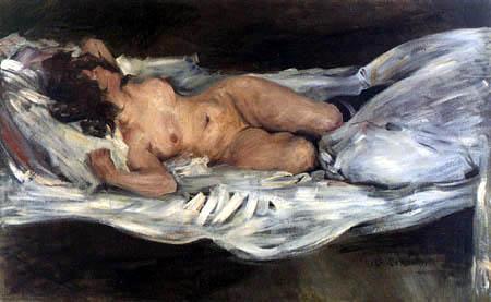 Lovis Corinth - A Reclining Nude