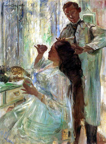 Lovis Corinth - At the washtable