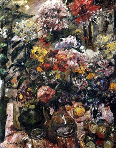 Lovis Corinth - Still Life with Chrysanthemums and Amaryllis