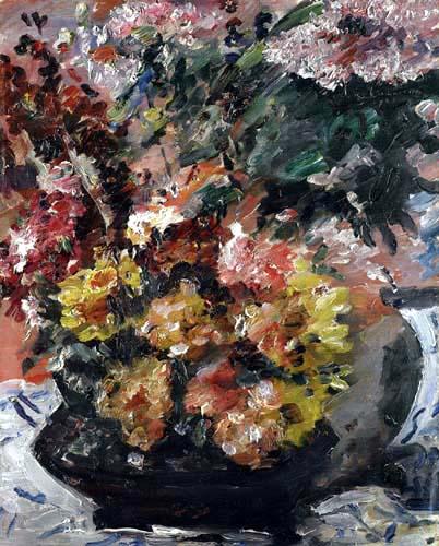 Lovis Corinth - Flowers in a Bronze Bucket