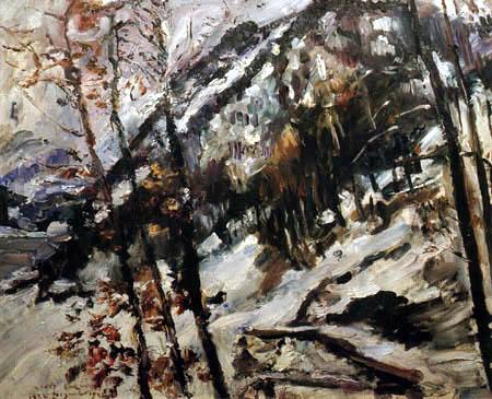 Lovis Corinth - Walchensee in Snow