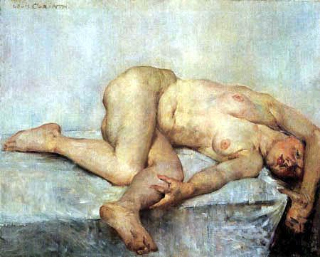 Lovis Corinth - Reclining nude