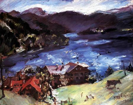 Lovis Corinth - Walchensee, Landscape with cow