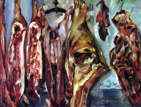 Lovis Corinth - Meat market