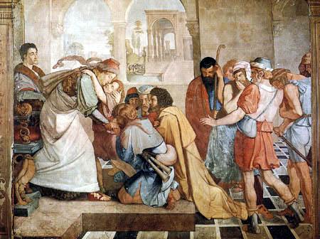 Peter von Cornelius - Joseph gibt sich seinen Brüdern zu erkennen