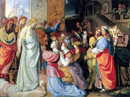 Peter von Cornelius - The five wise and the five foolish virgins